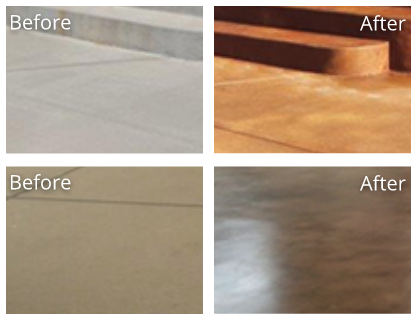 Concrete Before and After